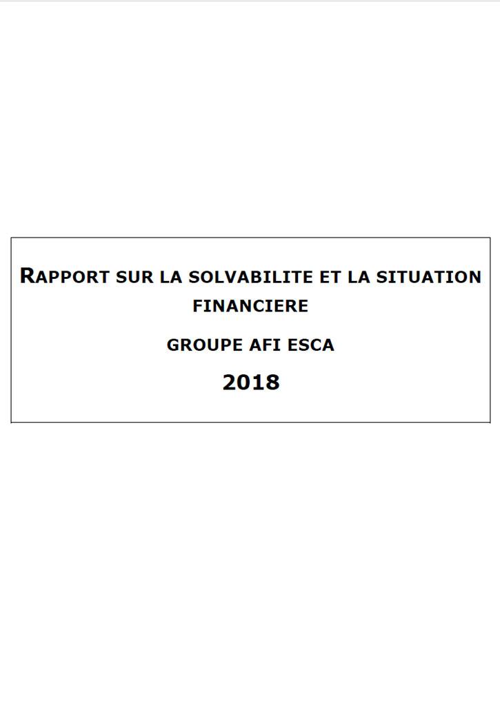 Rapport sur la solvabilité et la situation financière du Groupe Consolide 2018