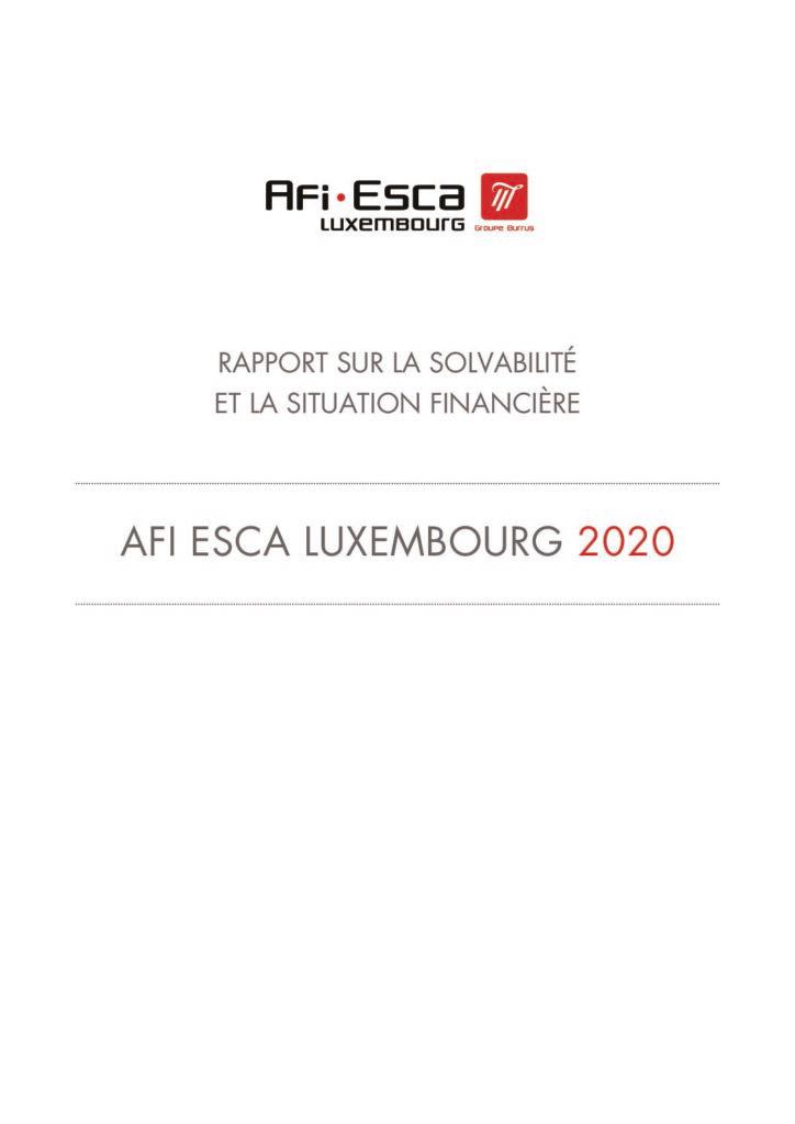 Rapport sur la solvabilité et la situation financière 2020